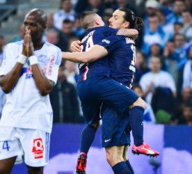 Joie Zlatan IBRAHIMOVIC / Marco VERRATTI - 05.04.2015 - Marseille / Paris Saint Germain