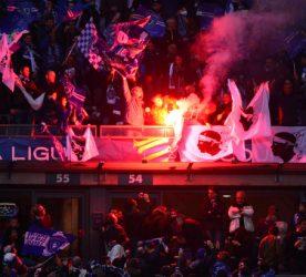 Supporters Bastia    - 11.04.2015 -  Bastia / PSG - Finale de la Coupe de la Ligue 2015 Photo : Dave Winter / Icon Sport