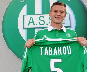 Presentation Franck TABANOU - nouveau joueur - 29.07.2013 - Conference de presse - Saint Etienne - Ligue 1 - 2013/2014 Photo : Jean Paul Thiomas / Icon Sport