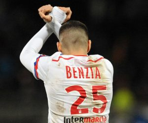 JOIE DE Yassine BENZIA  - 12.12.2014 - Lyon / Caen - 18eme journee de Ligue 1  Photo : Jean Paul Thomas / Icon Sport