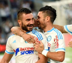 Joie Romain Alessandrini - 13.09.2015 - Marseille / Bastia - 5e journee Ligue 1 Photo : Alexandre Dimou / Icon Sport