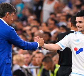 MICHEL / Remy CABELLA - 23.08.2015 - Marseille / Troyes - 3eme journee de Ligue 1 Photo : Gaston Petrelli / Icon Sport