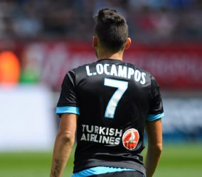 Lucas OCAMPOS - 16.08.2015 - Reims / Marseille - 2eme journee de Ligue 1 Photo : Andre Ferreira / Icon Sport