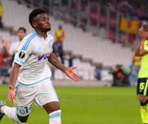 Joie Georges Kevin NKOUDOU - 05.11.2015 - Marseille / Braga - Europa League Photo : Gaston Petrelli / Icon Sport