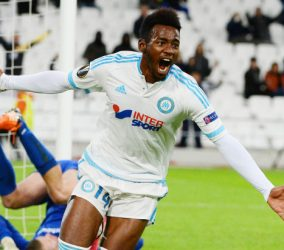 Joie Georges Kevin NKOUDOU - 26.11.2015 - Marseille / Groningue - Europa League Photo : Gaston Petrelli / Icon Sport