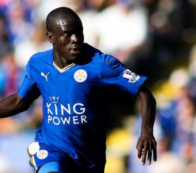 Ngolo Kante - 26.09.2015 - Leicester / Arsenal - 7eme journee de Premier League Photo : James Marsh / BPI / Icon Sport