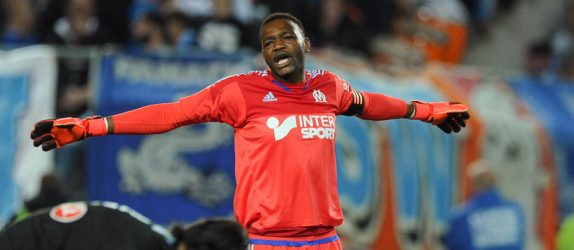 Steve Mandanda / Karim Rekik - 01.11.2015 - Nantes / Marseille - 12eme journee de Ligue 1 Photo : Andre Ferreira / Icon Sport