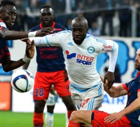Lassana DIARRA / Jerome Le MOIGNE - 13.12.2015 - Marseille / Gazelec Ajaccio - 18eme journee de Ligue 1 Photo : Gaston Petrelli / Icon Sport