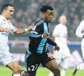 Jeremy MOREL / Michy BATSHUAYI - 24.01.2016 - Lyon / Marseille - 22e journee de Ligue 1 Photo : Jean Paul Thomas / Icon Sport