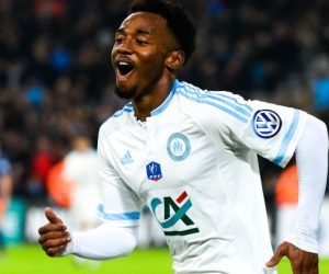 Joie Georges KEVIN NKOUDOU - 20.01.2016 - Marseille / Montpellier - 1/16emeFinale Coupe de France Photo : Gaston Petrelli / Icon Sport