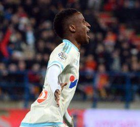 Joie Marseille /  Bouna SARR - 17.01.2016 - Caen / OM - 21eme journee de  Ligue 1 Photo : Gaston Petrelli  / Icon Sport