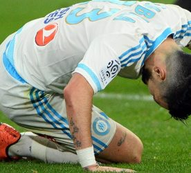 Florian THAUVIN of Marseille looks dejected during the French Ligue 1 match between Olympique de Marseille v Stade Rennes at Stade Velodrome on March 18, 2016 in Marseille, France.