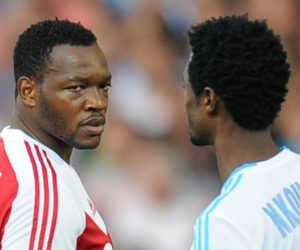 Steve MANDANDA / Nicolas NKOULOU  - 26.10.2013 - Marseille / Reims - 11e journee de Ligue1 Photo: Amandine Noel / Icon Sport