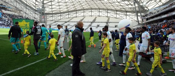 Part of Stade Velodrome closed  during the French League 1 match between Olympique de Marseille and FC Nantes at Stade Velodrome on April 24, 2016 in Marseille, France. (Photo by Mathieu Valro/Icon Sport)