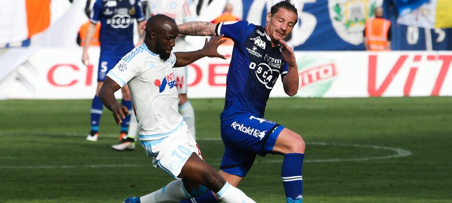 Lassana Diarra during the French Ligue 1 match between Bastia and Olympique de Marseille at Stade Armand Cesari, Bastia, France on 3rd April, 2016 Photo : Michel Maestracci / Icon Sport