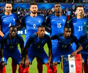 The France team before the international friendly match between France and Scotland at Stade Saint-Symphorien on June 4, 2016 in Metz, France. (Photo by Dave Winter/Icon Sport)