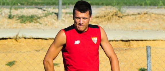 Yevhen Konoplyanka and Victor Vitolo during a training session of Sevilla on 23th July, 2016  Photo : Hurtado / Marca / Icon Sport