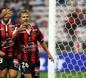 Vincent Koziello of OGC Nice celebrates after scoring during the French Ligue 1 between Nice and Lille at Stade Allianz Rivera on August 27, 2016 in Nice, France. (Photo by Agence Nice Presse/Icon Sport)