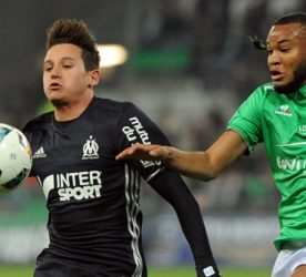 Florian THAUVIN of Marseille  during the Ligue 1 match between AS Saint-Etienne and Olympique de Marseille at Stade Geoffroy-Guichard on November 30, 2016 in Saint-Etienne, France. (Photo by Jean Paul Thomas/Icon Sport )