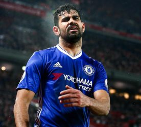 Diego Costa looks dejected after missing a penalty during the Premier League match between Liverpool and Chelsea played at Anfield, Liverpool on 31st January 2017 -------------------- Photo: Matt West / BPI / Icon Sport Football - Premier League 2016/17 Liverpool v Chelsea Anfield, Anfield Rd, Liverpool, United Kingdom 31 January 2017