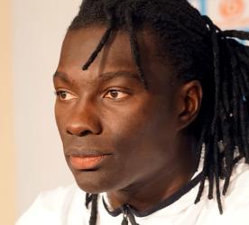 Bafé Gomis en conférence de presse au centre RLD - Photo @FCMarseille