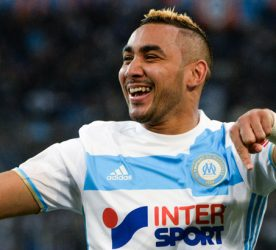Dimitri Payet of Marseille celebrates his goal during the French Ligue 1 match between Marseille and Guingamp at Stade Velodrome on February 8, 2017 in Marseille, France. (Photo by Mathieu Valro/Icon Sport)