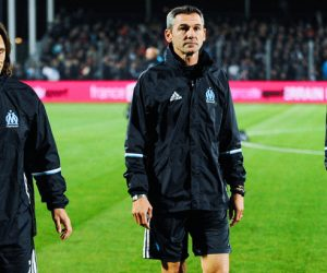 Frederic BOMPARD adjoint coach, Claude FICHAUX and Pieter Jacobs of Marseille during the League cup match between Clermont and Olympique de Marseille on October 26, 2016 in Clermont, France. (Photo by Jean Paul Thomas/Icon Sport)