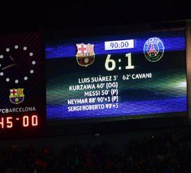 Barça PSG 6-1