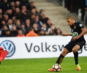 Killian Mbappe of Monaco during the French Cup match between Marseille and Monaco at Stade Velodrome on March 1, 2017 in Marseille, France. (Photo by Alexandre Dimou/Icon Sport)