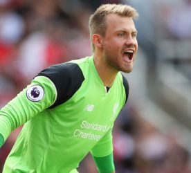 Liverpool goalkeeper Simon Mignolet  during the Premier League match between Arsenal and Liverpool played at The Emirates Stadium, London on 14th August 2016 Photo : Potts / PA Images / Icon Sport