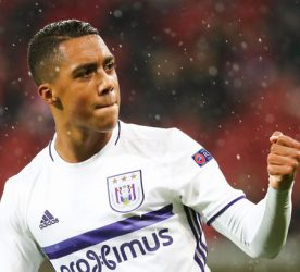 Anderlecht's Youri Tielemans celebrates during a third match of the group stage (group C) of the Europa League competition between German club FSV Mainz and Belgian soccer team RSC Anderlecht, Thursday 20 October 2016, in Mainz, Germany.    Photo: Virginie Lefour / Belga / Icon Sport