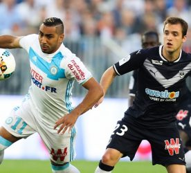 Valentin Vada of Bordeaux and Dimitri Payet of Marseille during the Ligue 1 match between Girondins de Bordeaux and Olympique de Marseille at Nouveau Stade de Bordeaux on May 14, 2017 in Bordeaux, France. (Photo by Manuel Blondeau/Icon Sport)