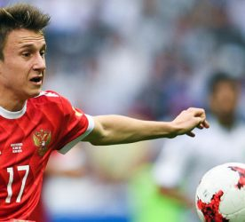 3138942 06/24/2017 Russia's Alexander Golovin during the 2017 FIFA Confederations Cup match between Mexico and Russia. Photo: Vladimir Astapkovich / Sputnik / Icon Sport