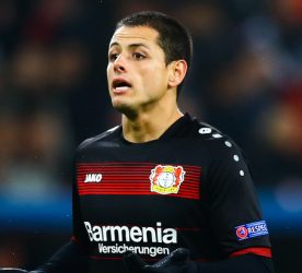 Javier Hernandez of Bayer 04 Leverkusen shows a look of frustration during the UEFA Champions League Round of 16 First Leg match between Bayer 04 Leverkusen and Atletico Madrid played at the BayArena, Leverkusen, Germany on 21st February 2017 -------------------- Kieran  McManus / BPI / Icon Sport Football - UEFA Champions League 2016/17 Round Of 16 First Leg Bayer Leverkusen v Atletico Madrid BayArena, Leverkusen, Germany 21 February 2017