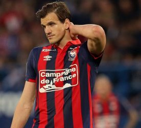 Ivan Santini of Caen  during the Ligue 1 match between SM Caen and Stade Rennais Rennes at Stade Michel D'Ornano on May 14, 2017 in Caen, France. (Photo by Vincent Michel/Icon Sport)