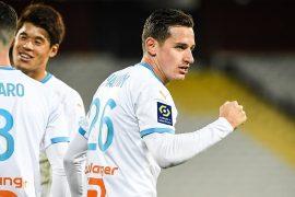 Florian THAUVIN Marseille célèbre son but contre le RC Lens